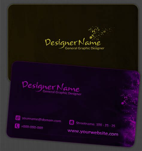 50 free photoshop business card templates