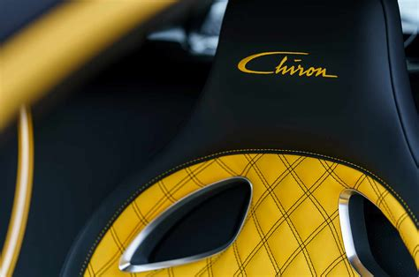 yellow bugatti chiron first bugatti chiron in u s delivered at pebble beach