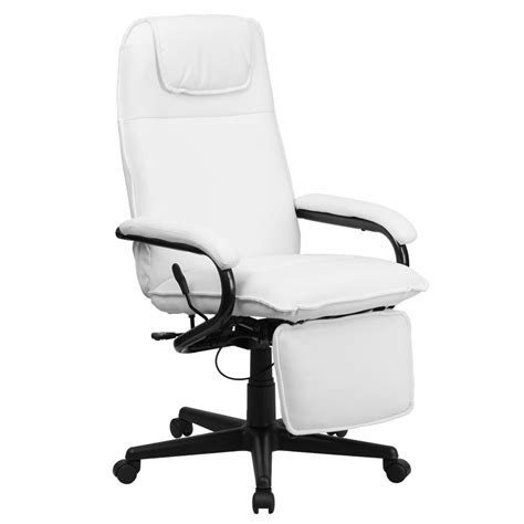 White Leather Swivel Recliner by Flash Furniture High Back White Leather Executive