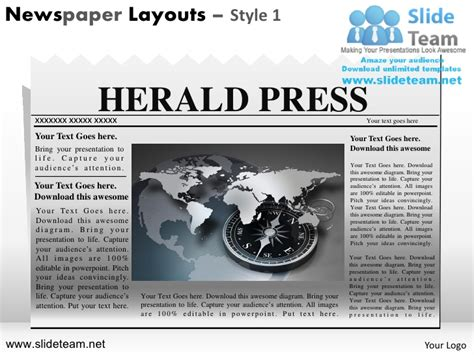 newspaper layout design ppt newspaper templates for kids editable newspaper layout