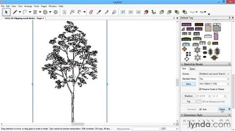sketchup layout scrapbook library clipping mask limits