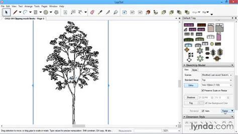 sketchup layout mask clipping mask limits