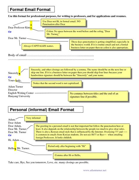 format of formal business email 5 best images of professional business email template