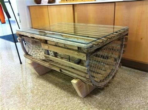 lobster trap coffee table wood stuff