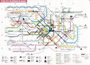 Japan Subway Map by Complete Japan Tokyo Metro Map For Tourists Guide