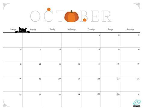 printable october 2017 calendar landscape cute october 2016 calendar template calendar template 2018
