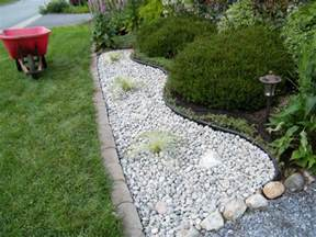 Landscape Rock Pictures Landscaping With River Rock Installation Front Yard