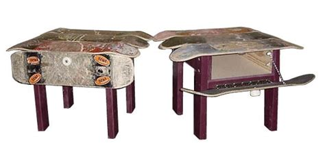 Skateboard Table by Skateboard Furniture Recycled Ideas Recyclart