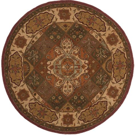 6ft circular rugs safavieh heritage rust ivory 6 ft x 6 ft area rug hg917a 6r the home depot