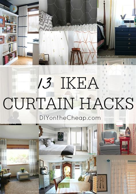 ikea panel curtain hack 13 diy ikea curtain hacks window coverings on a budget