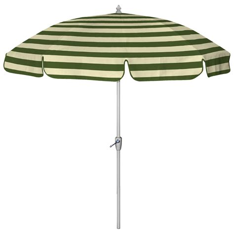 Striped Patio Umbrella Shop 7 6 Quot Green Wide Striped Patio Umbrella At Lowes