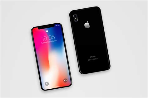 A Iphone 10 Iphone X Front Back Mockup Psd Mockup Templates