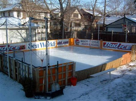 ice skating rink backyard backyard rinks