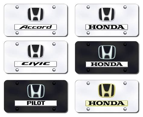 honda logo and name license plates vanity logo tags honda