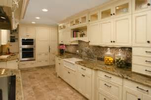 Backsplash For Kitchen With White Cabinet by White Cabinets Kitchen Tile Floor Home Design Ideas