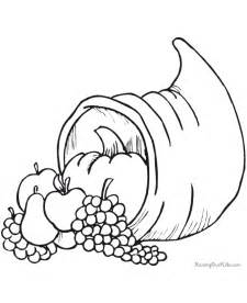 cornucopia coloring page printable thanksgiving coloring pages cornucopia
