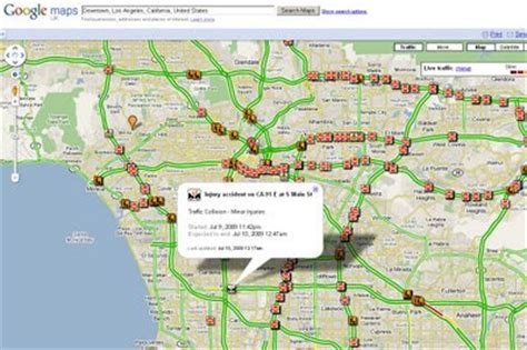 la live map real time traffic los angeles map