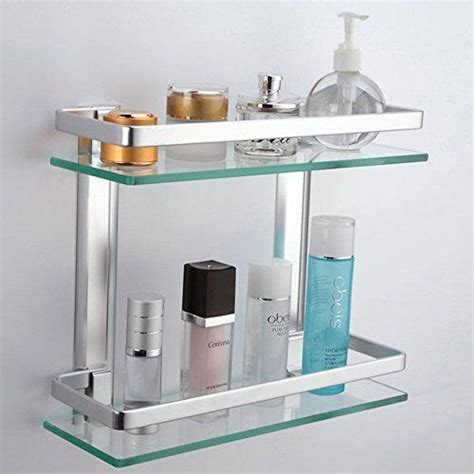 Bathroom Glass Shelves With Rail 17 Best Ideas About Glass Shower Shelves On