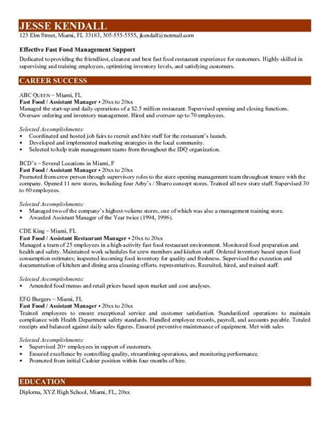 Resume F B Assistant Manager by 13 Best Resume Images On Resume Ideas Resume