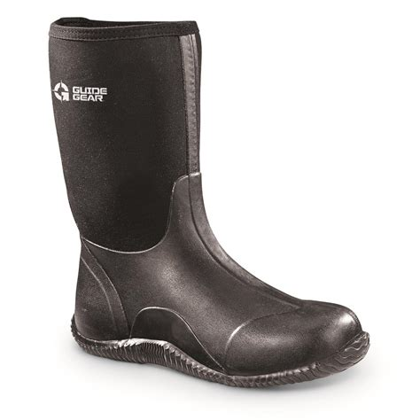s rubber boots guide gear s mid bogger rubber boots 648773