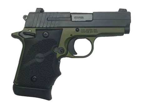 Br7474 An12103 Green sig sauer 938 army green 12103 9mm luger for sale at
