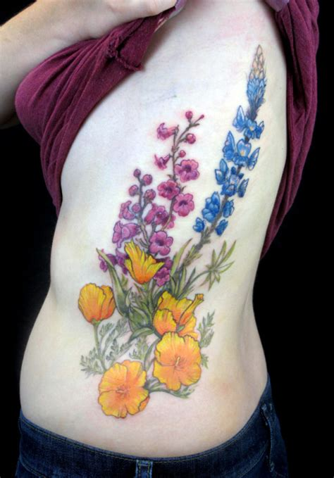 wildflower tattoo designs wildflower tattoos designs ideas and meaning tattoos