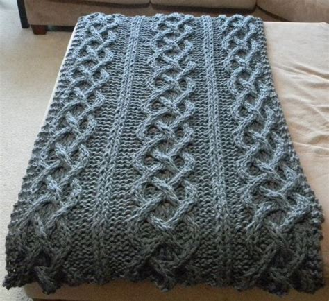 chunky cable knit blanket pattern big chunky cable knit blanket pattern only permission