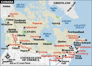 calgary on a map of canada canada