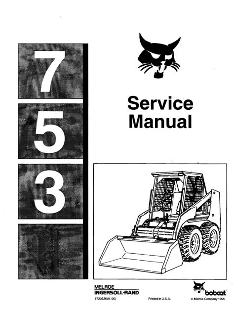 bobcat 753 wiring diagram manual choice image diagram