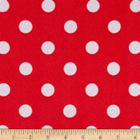 knit print fabric liverpool knit print dots coral ground white