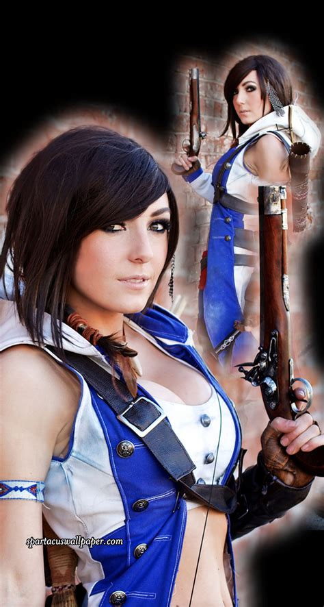 jessica nigri connor kenway iii desktop backgrounds mobile home screens spartacus wallpaper