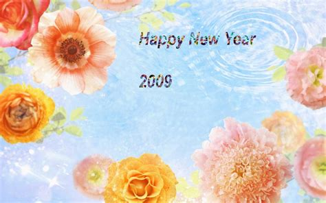 happy new year flower happy new year flower wallpaper free wallpapers