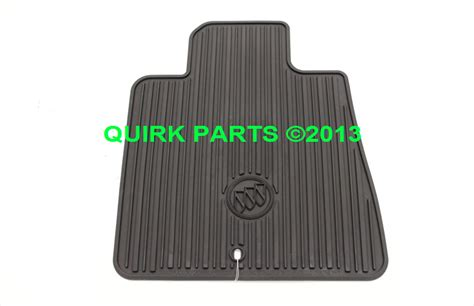 Buick Enclave Floor Mats by 2008 2014 Buick Enclave Front Black Rubber Floor Mats Oem