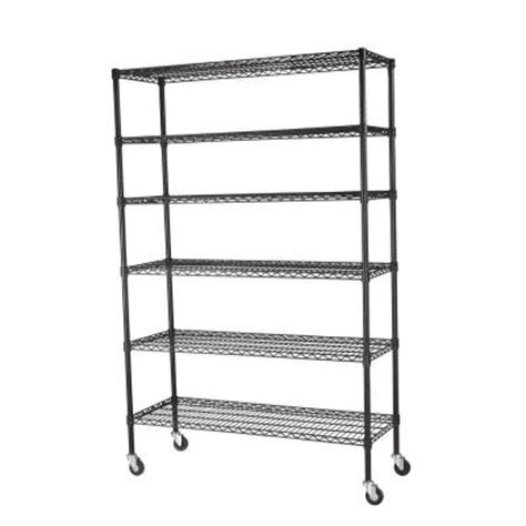 sandusky 6 shelf 48 in x 18 in x 74 in steel wire