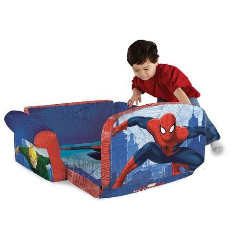 spiderman couch spin master marshmallow furniture flip open sofa spiderman