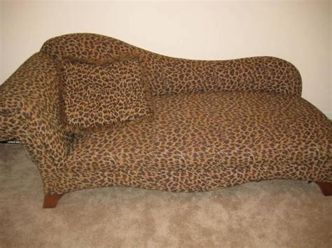 chaise lounge fainting leopard print sofa with