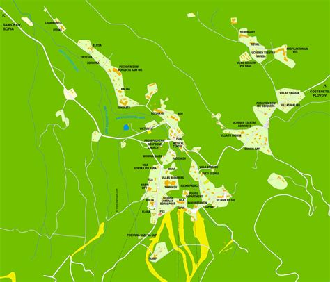Borovets map of hotels, attractions and institutions