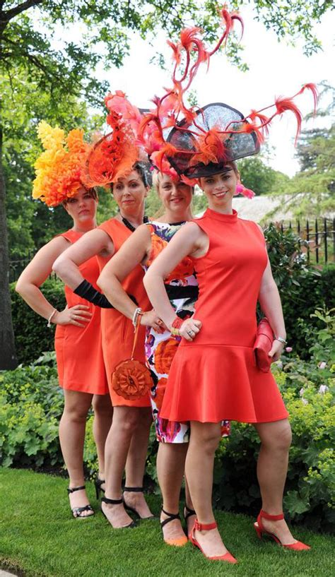 Royal Dress Balotelly Tangerine Berkualitas 12 royal ascot day one pictures of racegoers in stunning hats style style express co uk