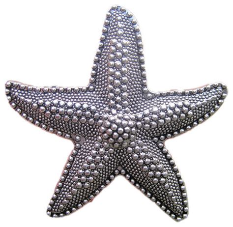 Starfish Cabinet Knobs by House Starfish Drawer Knobs Silver Style