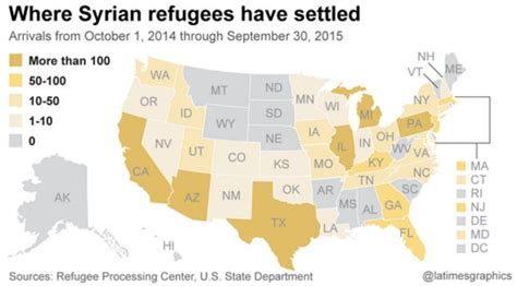 map of us states refusing refugees state governors refuse syrian refugees 98 muslim who