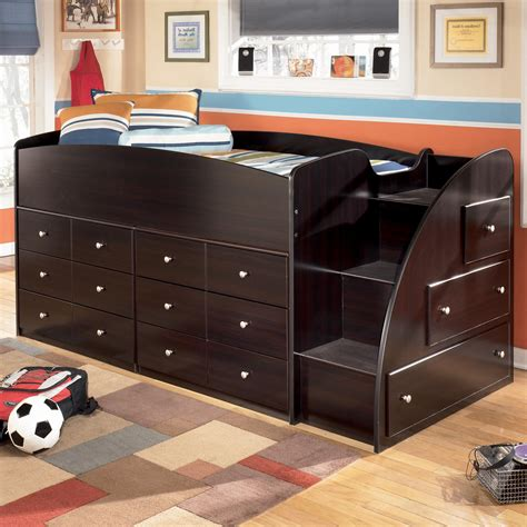 twin loft bed with storage twin loft bed with right steps chest storage by