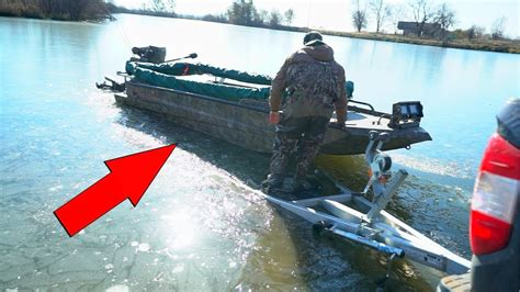 boat r gone wrong ice fishing with a boat gone wrong youtube