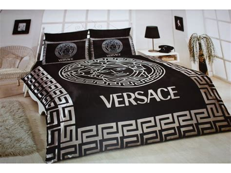 Black Satin Comforter Versace Bedding Set Satin Medusa Versace Bedding Sets