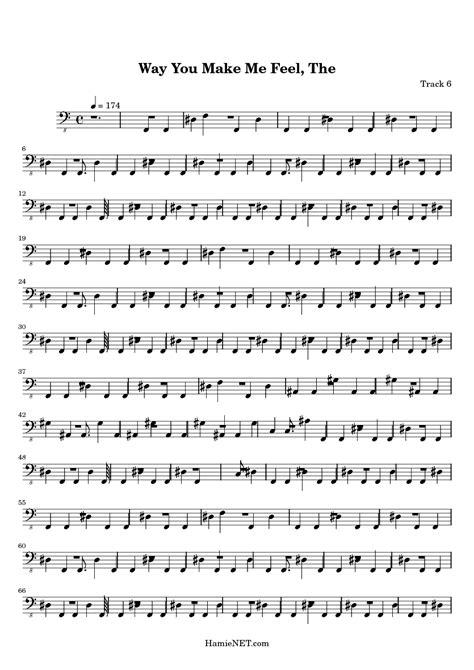 The Way You Make Me Feel Sheet Music - The Way You Make Me