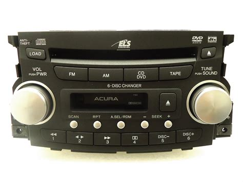04 05 06 acura tl radio stereo 6 disc changer cd player