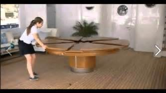 Round Wood Dining Room Table Sets expandable round dining table youtube