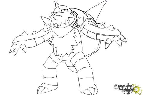 pokemon coloring pages chesnaught how to draw chesnaught from pokemon drawingnow