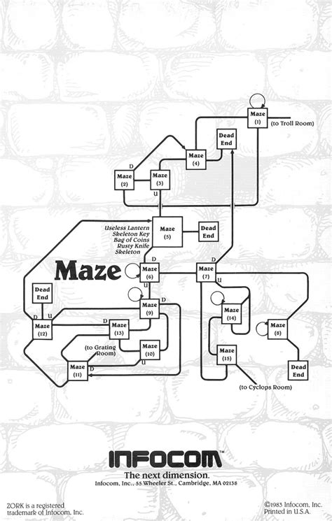 redman finding the in the maze books the infocom gallery zork i invisiclues