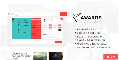layout design awards awards css gallery nominees website showcase responsive
