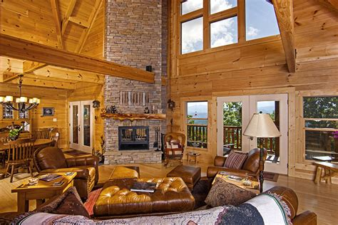 Log Home Interiors Images Chilhowee Final Pics Custom Timber Log Homes